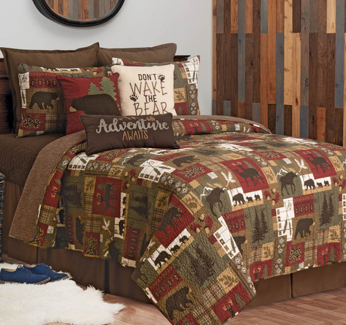 Lakeside Lodge Wilderness Quilt Set - Twin