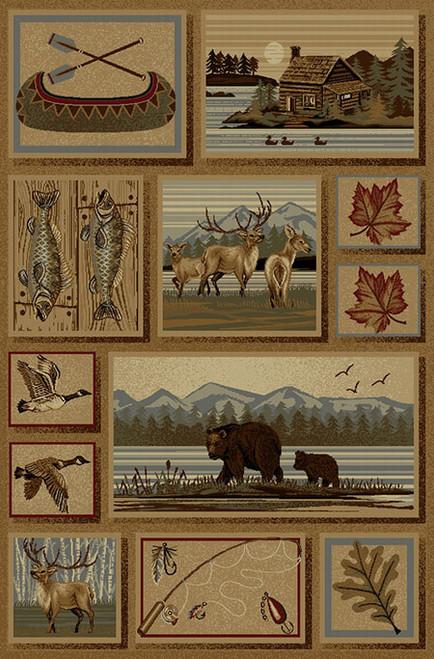 Lakeside Wildlife Rug - 2 x 4