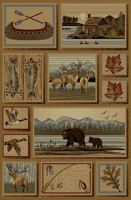 Lakeside Wildlife Rug - 5 x 8