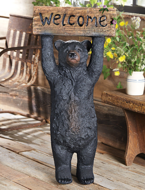 Large Welcome Bear Sculpture