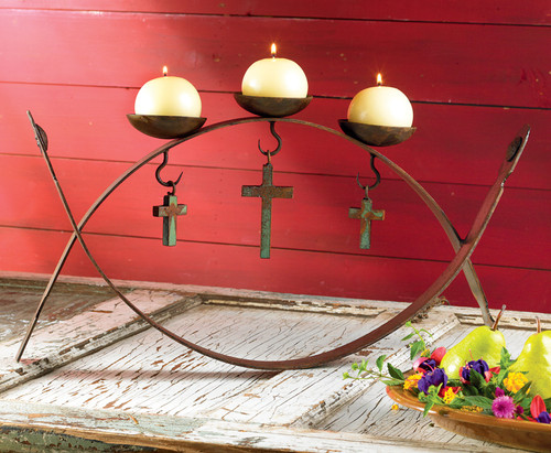 Las Cruces Candle Holder