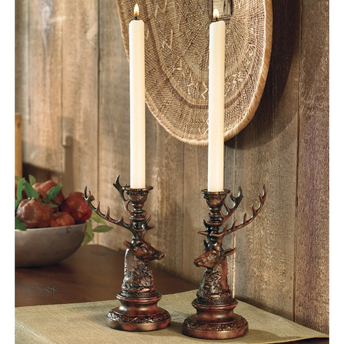 Stag Candle Holder - Set of 2