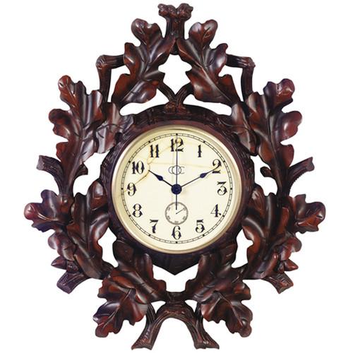 Black Forest Oak Leaf Wall Clock