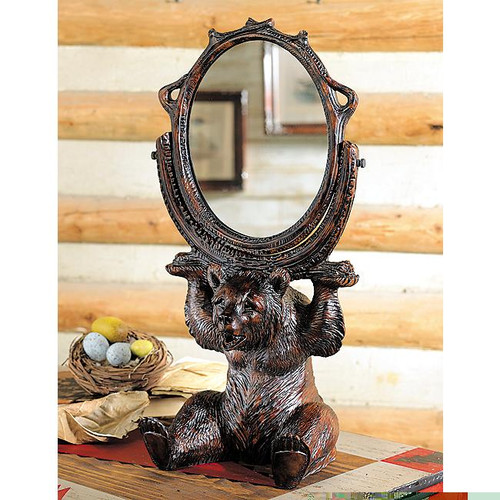 Black Forest Bear Vanity Mirror