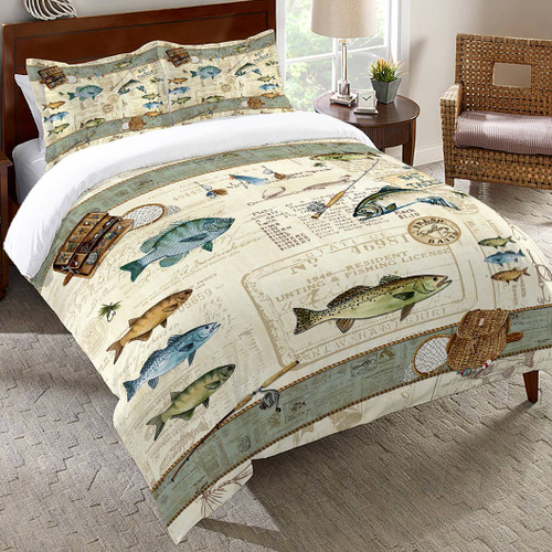 License to Fish Comforter - Twin