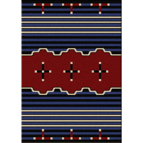 Big Chief Blue Rug Collection