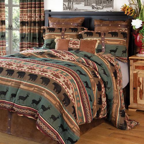 Lodge Bands Bed Set - King
