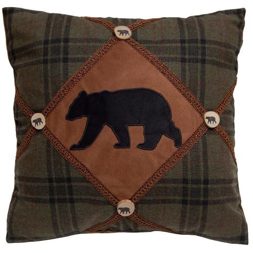 Lodge Bands Diamond Bear Pillow