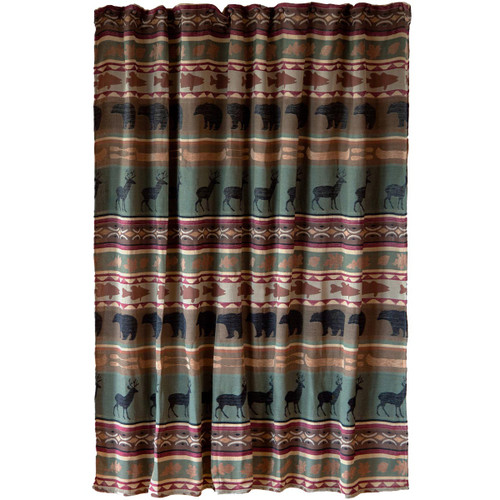 Lodge Bands Shower Curtain