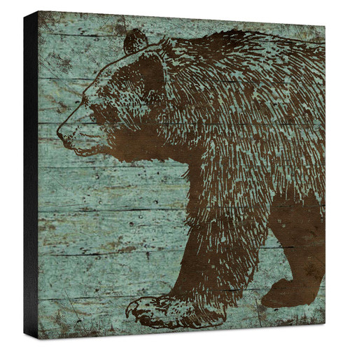 Lodge Bear Gallery Wrapped Canvas