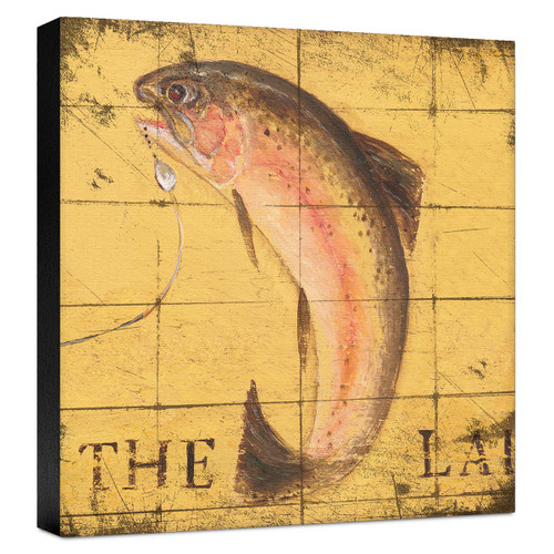 Lodge Fish Gallery Wrapped Canvas