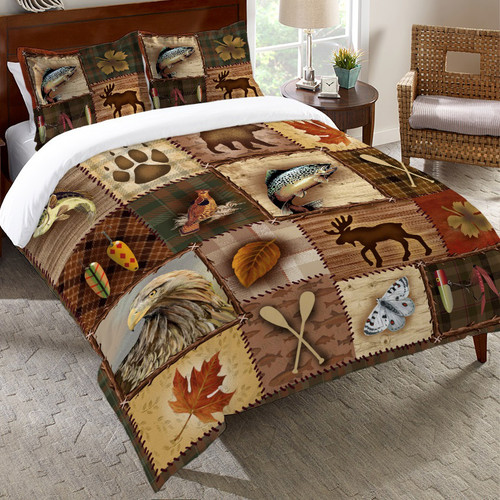 Lodge Icons Duvet Cover - Twin
