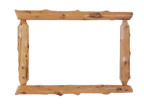 Log Mirror Frame