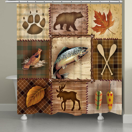 Lodge Icons Shower Curtain