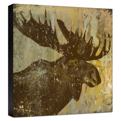 Lodge Moose Gallery Wrapped Canvas