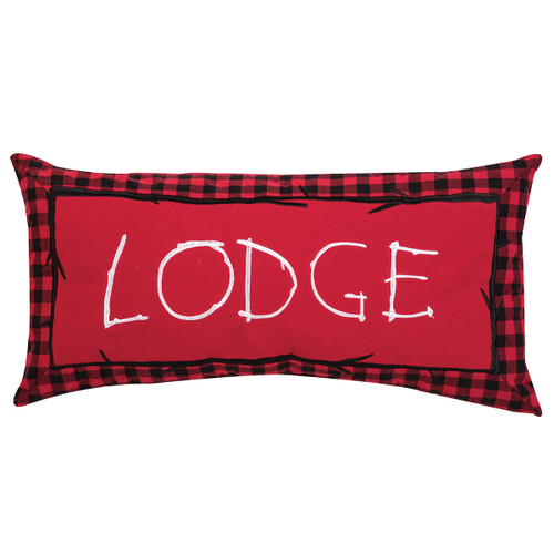 Lodge Plaid Embroidered Pillow