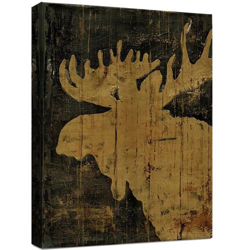 Lodge Silhouettes Canvas Art - Moose