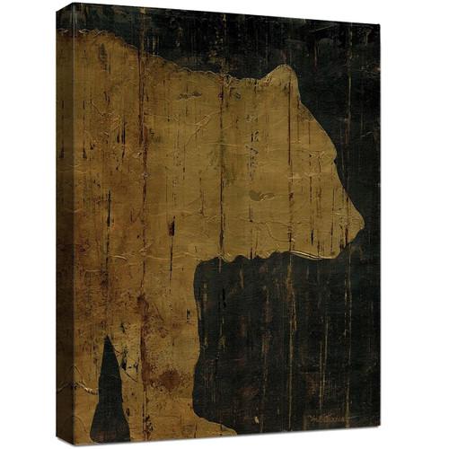 Lodge Silhouettes Canvas Art - Bear