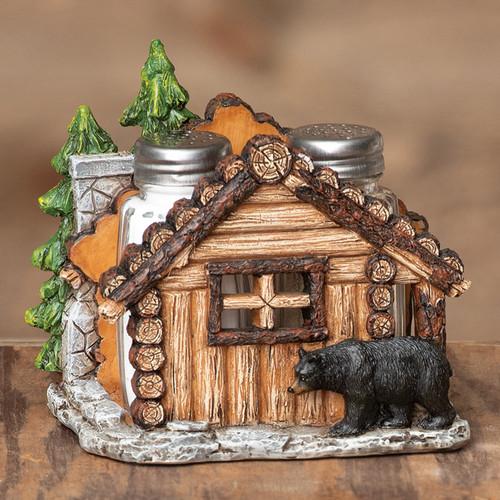 Log Cabin Bear Salt & Pepper Shakers