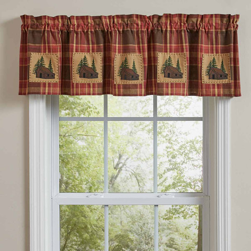 Log Cabin Patch Lined Valance