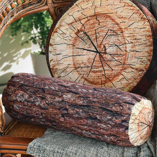 Log Tree Lumber Jack Bolster Pillow