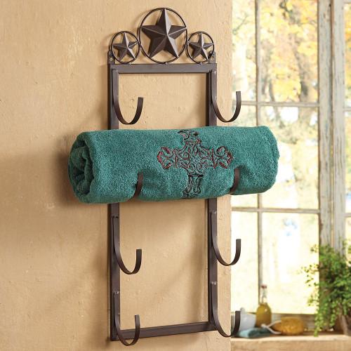 Lone Star Wall/Door Mount Towel Rack