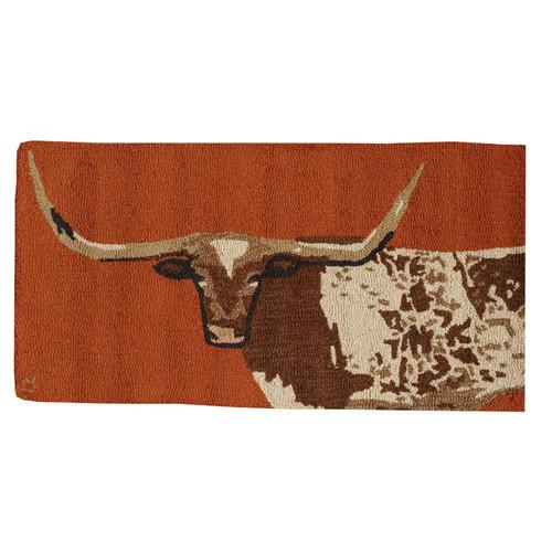 Longhorn Hooked Wool Rug