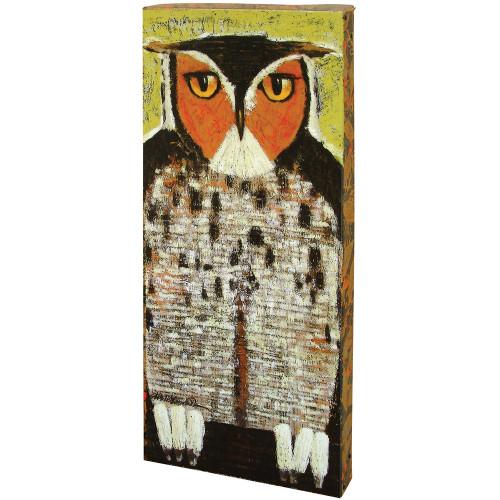 Looking Owl Boxed Metal Wall Art