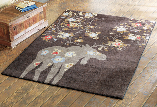 Moose Blossom Chocolate Rug Collection