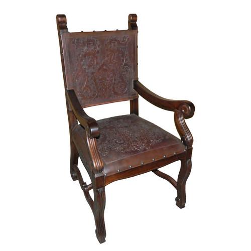Lucia Arm Chair,Colonial, Antique Brown