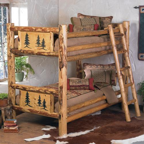 Rocky Mountain Log Bunk Bed