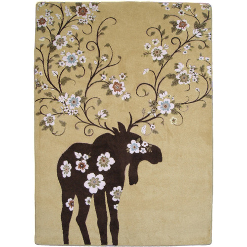 Moose Blossom Natural Rug Collection
