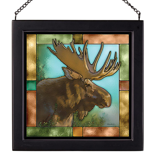 Majestic Moose Stained Glass Art