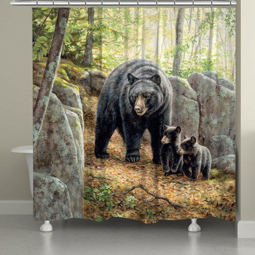Mama and Cubs Shower Curtain
