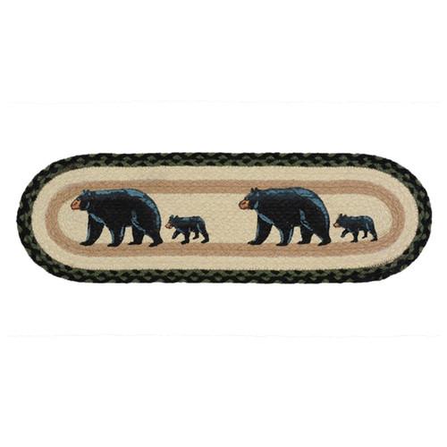 Mama Black Bear & Cub Braided Jute Stair Tread