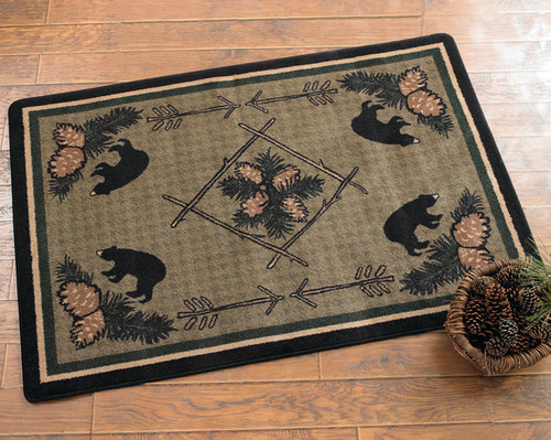 Pinecone & Bears Rug Collection