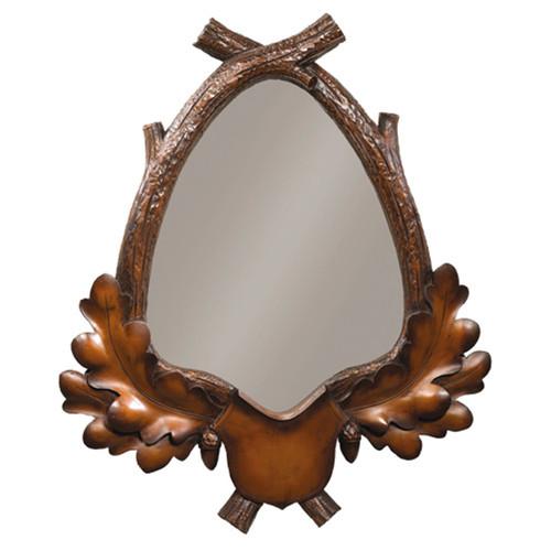Maple Acorn Branch Wall Mirror