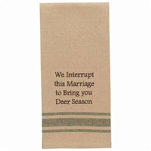 Marriage Interruption Embroidered Dishtowels - Set of 6