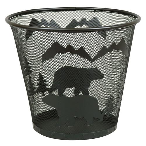 Metal Bear Waste Basket