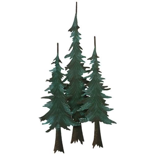 Metal Pine Tree Wall Sculpture