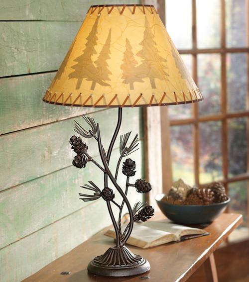 Metal Pinecone Table Lamp