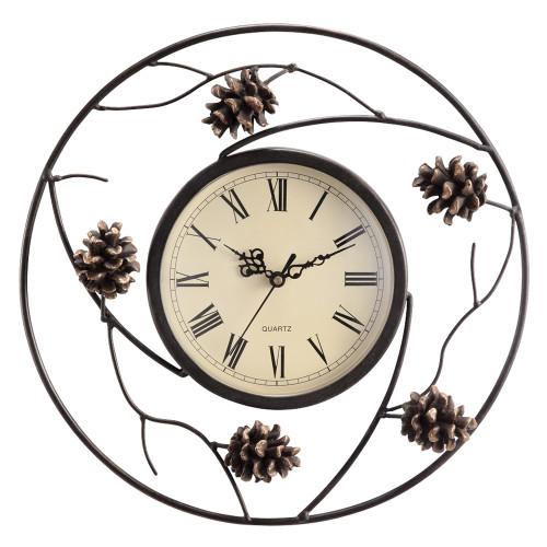 Metal Pinecone Wall Clock