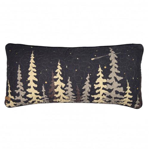 Midnight Cabin Tree Pillow