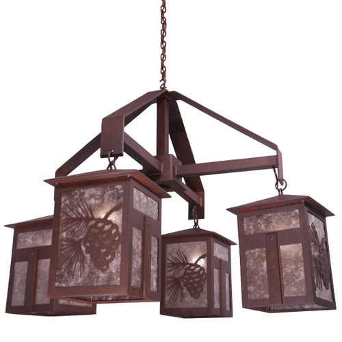 Mission Pinecone Large Chandelier