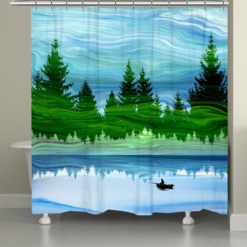 Mirage Forest Shower Curtain