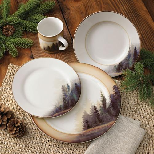 Misty Forest Dinnerware Set (16 pcs) - BACKORDERED UNTIL 9/3/2021