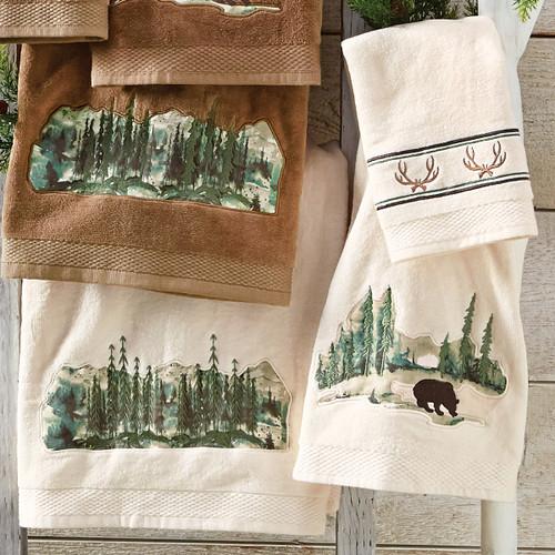Misty Morning Bear Towel Set - Cream