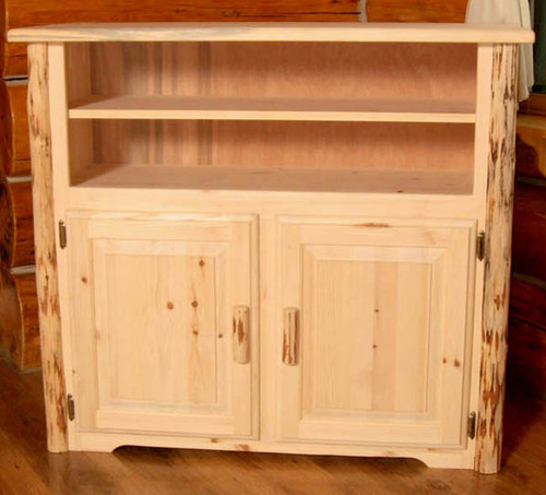 Lacquer Finish Hand-Peeled Rustic Media Center
