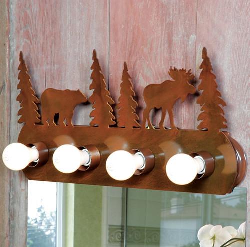 Moose & Bear Vanity Light Fixture (4 Light)