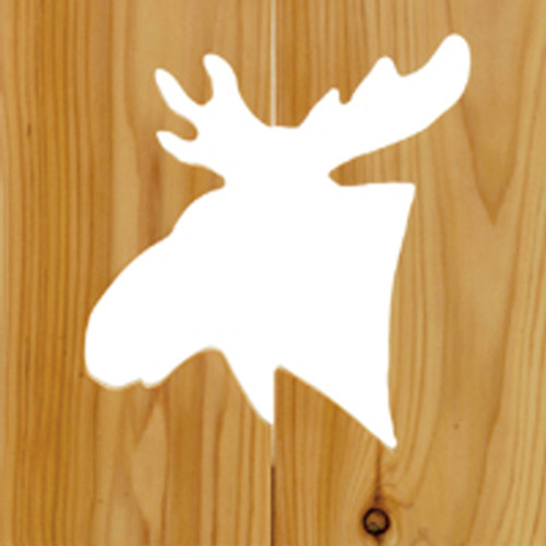 Log Bench with Moose Cut-Out Back - 48inch